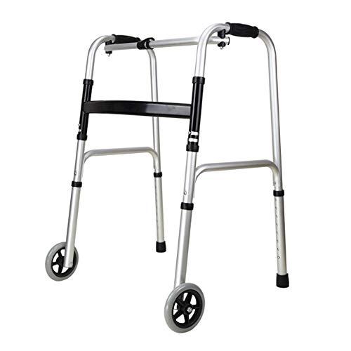 HENGMEI Gehwagen Gehhilfe mit Vorderrädern Faltbar Verstellbare Gehrahmen für Senioren