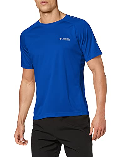 Columbia Titan Trail T-Shirt Homme Azul FR : 2XL (Taille Fabricant : XXL)