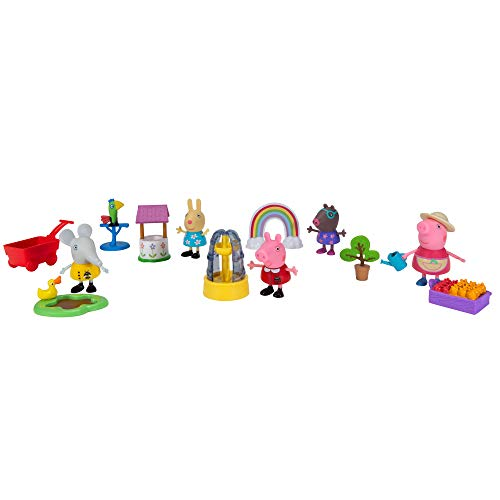 Peppa Pig Gardening Deluxe Playtime Set, Featuring Peppa Pig Characters, a Surprise Friend Figure, and Garden Accessories from The World of Peppa Pig - Toys for Kids (PEP0762)