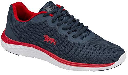 Lonsdale Stamford, Scarpe per Jogging su Strada Uomo, Blu Navy, Rosso, 42 EU