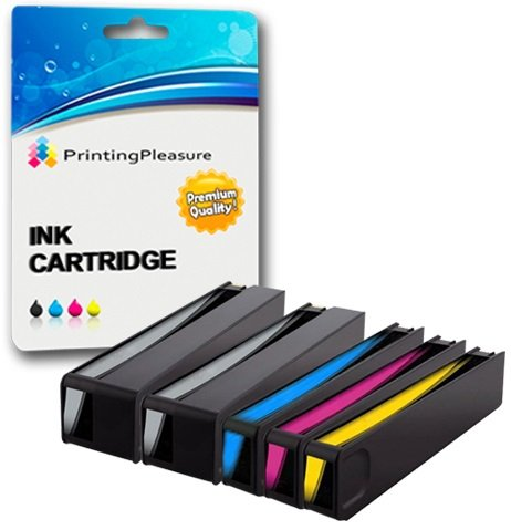 Printing Pleasure 5 XL Druckerpatronen für HP Officejet Pro X451dn, X451dw, X476dn, X476dw, X551dw, X576dw | Ersatz für HP 970XL, HP 971XL