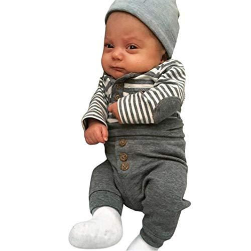 ASHOP Body Bebe Blanco Conjunto niño Verano 6 años Ropa Recien Nacido Invierno (Gris,70 (0-6Meses))