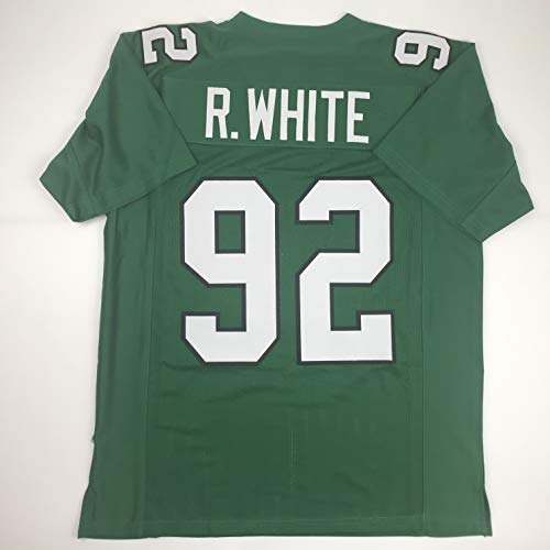 Unsigned Reggie White Philadelphia Kelly Green Custom Stitched Football Jersey Size Men's XL New No Brands/Logos