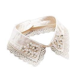 White-15 European Faux False Collar Lapel