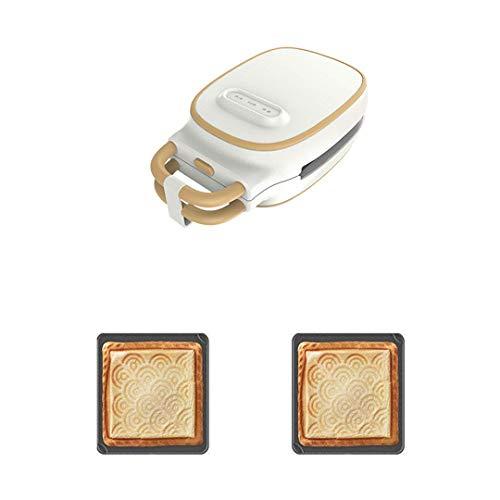 FSJD Máquina para Hacer gofres, sandwichera con 5 Platos móviles fáciles de Limpiar, Parrilla de 180 Grados, Control automático de Temperatura, una máquina para Dos propósitos