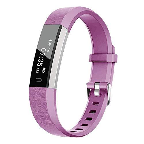 BIGGERFIVE Fitness Tracker Watch for Kids Girls Boys Teens, Activity Tracker, Pedometer, Calorie Sleep Monitor, Alarm Clock, IP67 Waterproof Step Counter Watch (Pink)