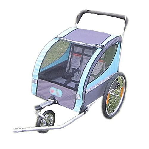 DUTUI Remolque De Bicicleta para Exteriores Tipo Montado En La Parte Trasera, Cochecito para Paseos En Bicicleta para Niños, Plegable, Adecuado para 1-2 Personas