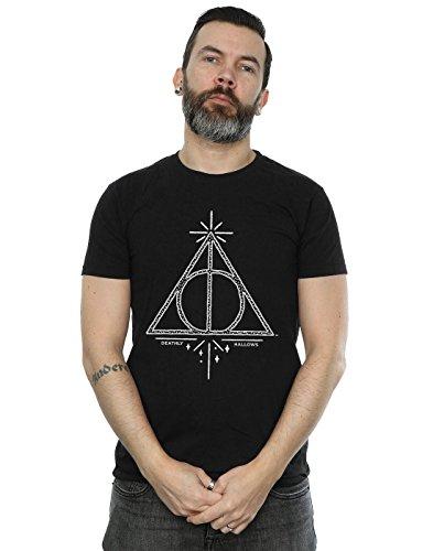 HARRY POTTER Herren Deathly Hallows Symbol T-Shirt Medium Schwarz