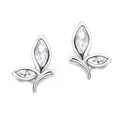 FIVE-D orecchini a forma di libellula con zirconi in argento 925, in confezione regalo