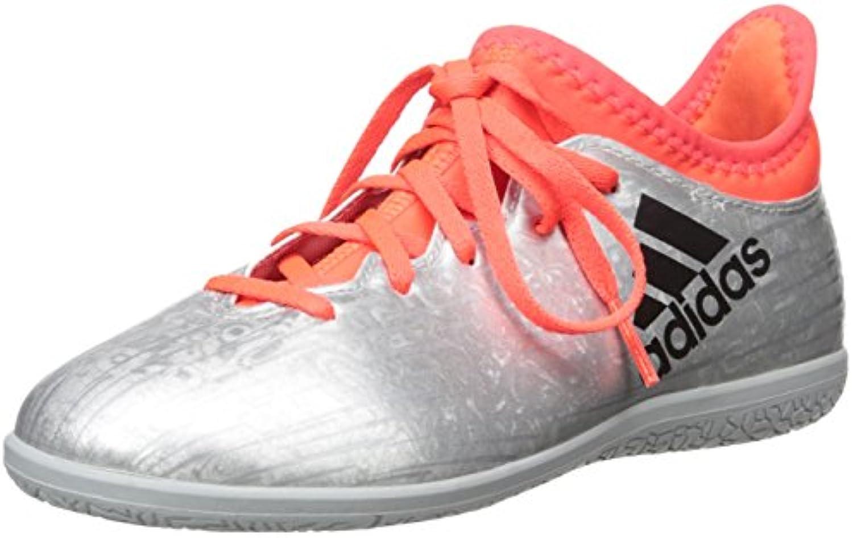 Adidas Performance Kids' X 16.3 Indoor Soccer shoes (Little Kid Big Kid), Silver Metallic Black Indoorfrared, 1.5 M US Little Kid