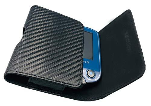 SEWAS Diabetic Care, Tasche für das Freestyle Libre Messgerät 1 und 2, Gürteltasche Blutzuckermessgerät, Diabetikertasche, Schutzcase Carbon Schwarz