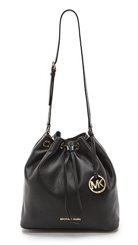 "Soft & durable leather with matching gold tone hardware Single adjustable leather handle with 12 inch drop Measures approximately 11""H x 12""W x 5""D Cinched leather drawstring closure Fully lined interior with multifunctional pockets"