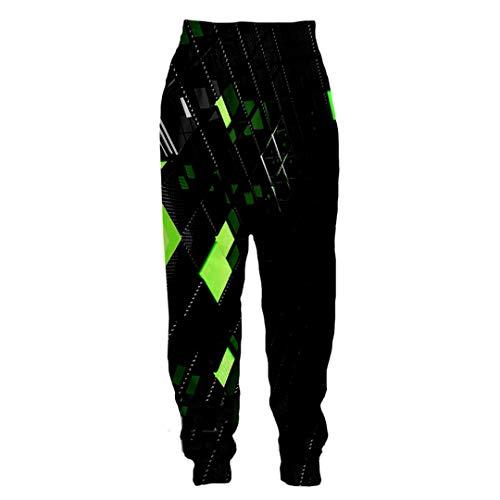 UK-PEIJIAN Pantalones de chándal de chándal de Longitud Completa Unisex con Estampado 3D Pantalones de Invierno Anime Cubos Azules Pantalones Deportivos Divertidos psicodélicos 6 L