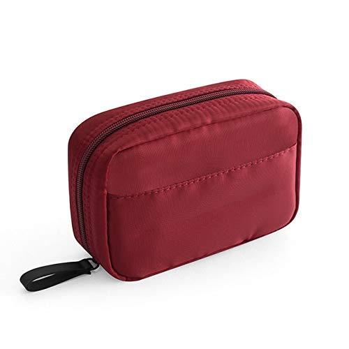 PoplarSun Mini Solide Couleur cosmétique Sac Cactus Voyage Sac de Rangement de beauté Toiletry Maquillage Sac cosmétique Organisation (Color : Red L)