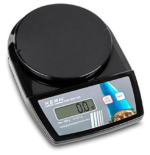 Balanza de laboratorio para principiantes con fantásticas prestaciones de pesaje [Kern EMB 500-1GN] Plato de pesaje Ø 150 mm, Gnome Edition, Campo de pesaje [Max]: 500 g, Lectura [d]: 0,1 g