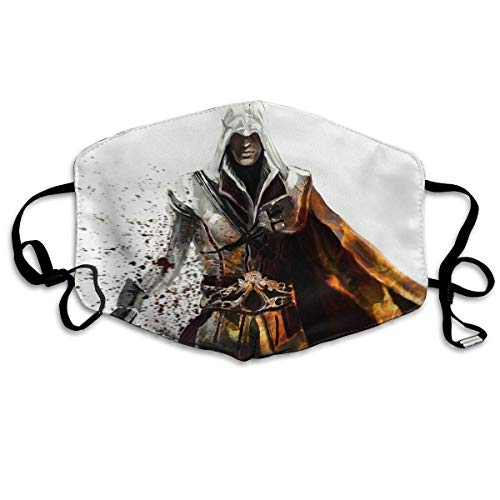 Halloween Fashion Mask Assassins Creed Verstelbare oorschelp gezichtsmasker stofmasker anti-pollen masker