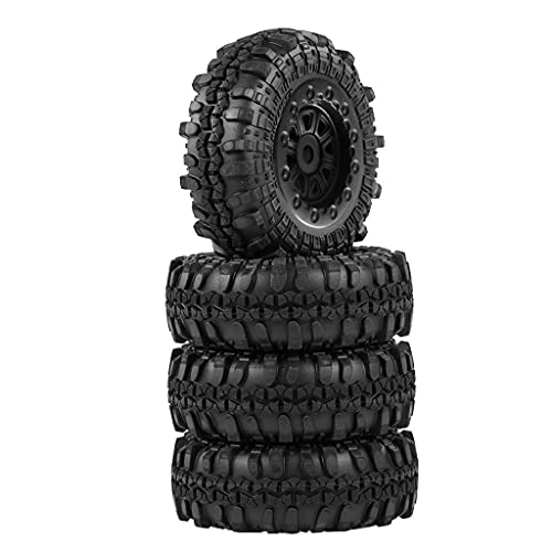 Hellery Neumáticos RC 4 Piezas neumáticos de Ruedas neumáticos de Goma para 1/24 Escala RC orugas Todoterreno Coche para Axial SCX24 1/24 Coche RC Escala