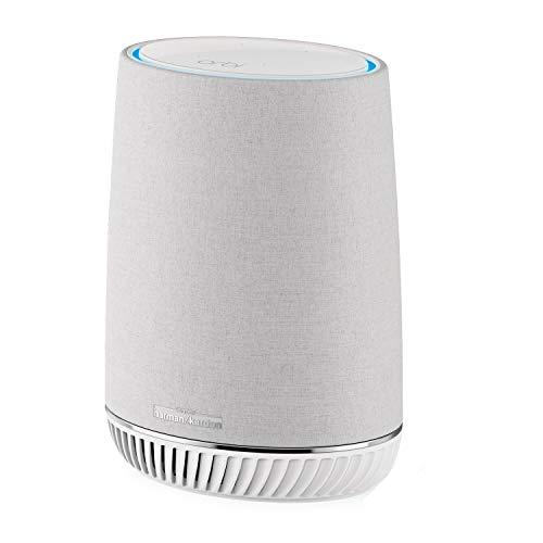 NETGEAR RBS40V Premium Mesh WLAN Repeater mit Smart Lautsprecher (Erweiterung um 125 m² Abdeckung, Alexa integriert, kompatibel mit allen WLAN-Routern und Orbi-Systemen, Audio by Harman/Kardon)
