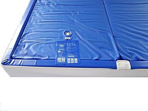 BluTimes BluStar Wasserkerne Softside Dual Wasserbettmatratze verschiedenen Größen und Beruhigungsstufen, Größe:200x220, Bstufe Wasserbett Blutimes:BS F0 7-10 sek.