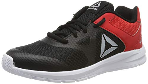 Reebok Rush Runner, Scarpe da Trail Running Bambino, Multicolore (Black/Red/Silver 000), 38 EU