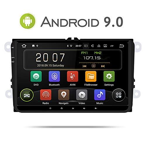 Aumume Android 9.0 autoradio für VW Golf Passat Polo Tiguan Jetta Skoda Fabia Yeti Seat met Navi 9 inch Scherm Unterstützt  Mirrorlink Autoplay Bluetooth DAB+
