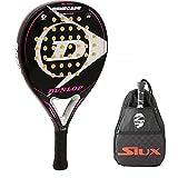 Pala de Padel Dunlop Renegade Soft + Bandolera Siux / Mejores Palas y Raquetas de Pádel para Hombre Mujer niño y niña / Palas Raquetas de Alto Control y Marco de Carbono