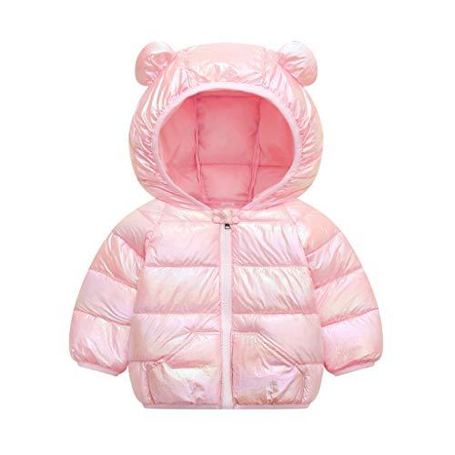 PROTAURI Cappotti per Neonato,Bambini Cappotto Invernale Cappuccio Leggero Impermeabile Softshell Giacca con Cappuccio,6-12 Mesi
