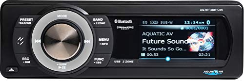 Aquatic AV Bundle of 2 Items AQ-MP-5UBT-HS Digital Media Receiver for Harley-Davidson with SiriusXM SXV300V1 Connect Vehicle Tuner