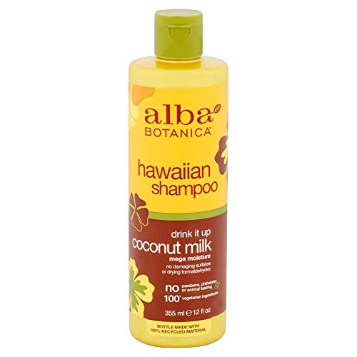 ALBA Botanica: natur Hawaiian Shampoo Drink It Up Coconut Milk, 12 oz (5 Pack)
