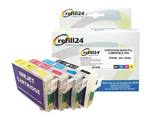 Cartuchos Recargables Epson Xp 4100 Marca refill24