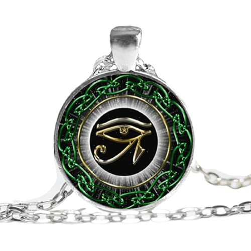 Collar con colgante de ojo de Horus de Egipto con colgante de ojo vintage para hombre