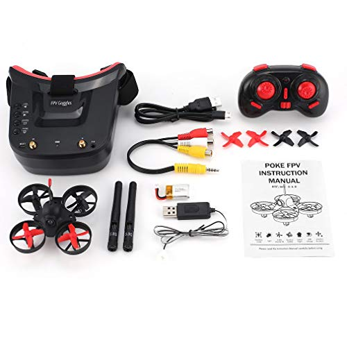 bansd 5.8G 40CH FPV Kamera Mini RC Racing Drohne Quadcopter mit 3in Headset Brille Rot & Schwarz