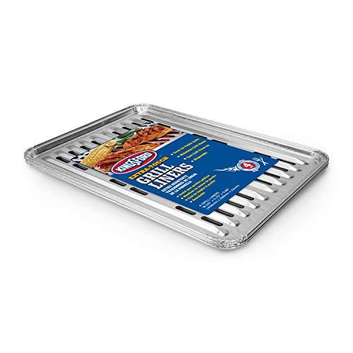 KINGSFORD Fisch- und Gemüsegriller, antihaftbeschichtet, Aluminium, verhindert, DASS Lebensmittel durch Grillroste Fallen, 40,6 x 29,9 x 2,2 cm, 4 Stück Grill-Liner 16
