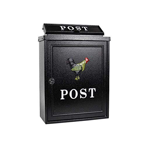 Outdoor Mailboxes With Cock Pattern In European Villas A Large Number Of Rain-proof Wall-mounted Waterproof Mailboxes JIAMING