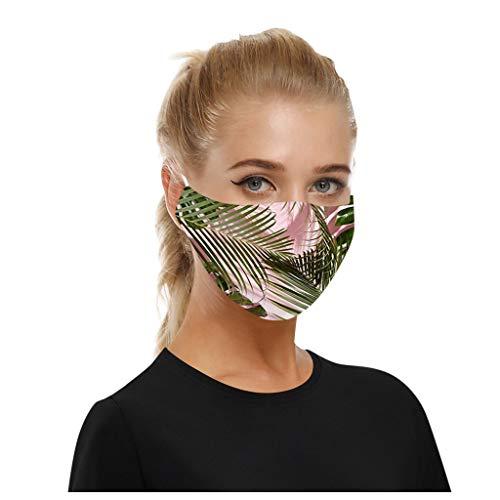 SHUANGA Erwachsene männliche weibliche Lustige atmungsaktiver, Wiederverwendbare Outdoor Unisex Staub, Baumwolle Soft Half Face, Filter Stoff