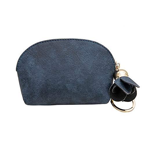 Damen Leder kompakte Mini Brieftasche Clip weibliche Brieftasche Box Kupplung Tür...