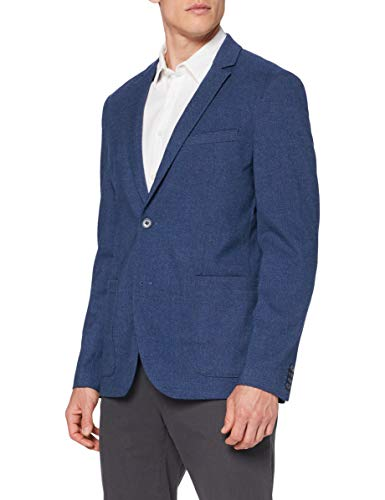 TOM TAILOR Herren Basic Sakko, 24123 - blazer structure blu, 56