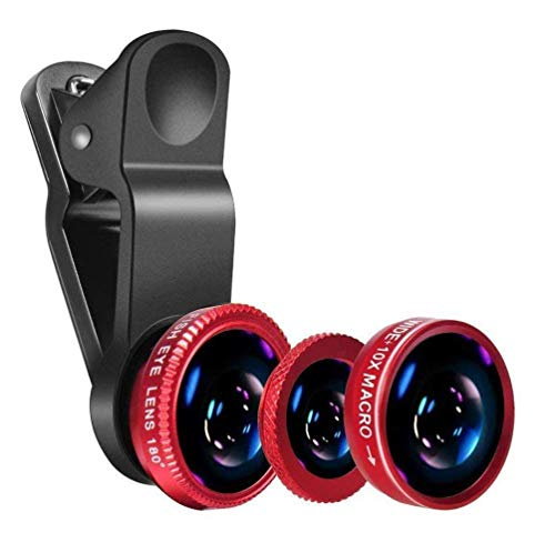MOBWILL 3in1 Mobile Camera Photo Lens; Fisheye Lens; Wide Angle; Macro Lens with Clip Holder for iOS and All Latest Smartphone.