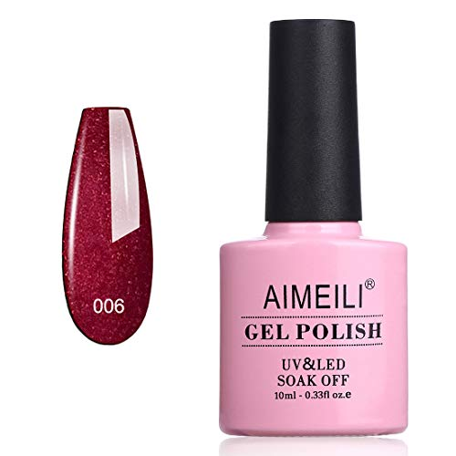 AIMEILI Smalto Semipermanente in Gel UV LED Smalto per Unghie Kit Smalti Semipermanenti Soak off Gel Colori per Manicure - Cherry Blossom (006) 10ml