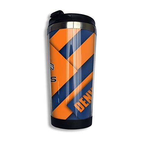 Denver Broncos doppelte vakuumisolierte Kaffeetasse mit Deckel aus rostfreiem Stahl
