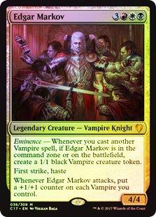 Magic: The Gathering - Oversized Foil - Edgar Markov - Commander 2017
