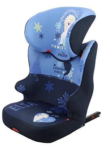 Nania 775819 - Silla de coche para Bebe Silla de coche elevador STARTER EASYFIX grupo 2/3 (15-36kg) con proteccion lateral - - 4 estrellas ADAC - Disney Frozen, unisex, color frozen