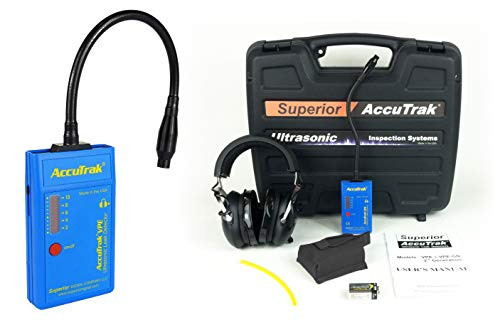 Superior AccuTrak VPE-GN PRO Gooseneck Ultrasonic Leak Detector Professional Kit, Includes VPE Leak Detector, Headset, Battery, Large Carry Case, Waveguide, Noise Blocking Headphones