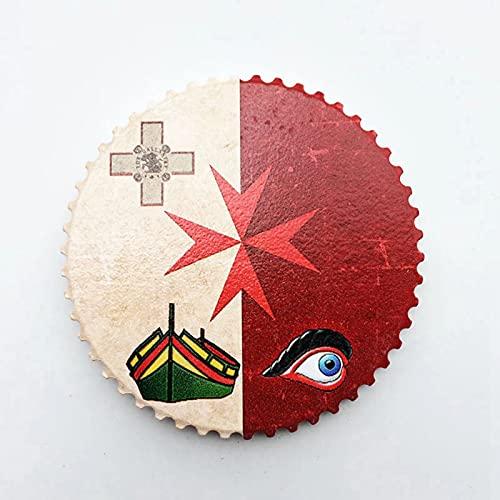 Weekino Flagge Malta Kühlschrankmagnet 3D Polyresin Touristische Stadtreise City Souvenir Collection Geschenk Starker Kühlschrank Aufkleber