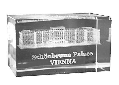 SCHÖNBRUNN Wien 3D Glas Kristall Quader XL im Hochformat - von WWW.Vienna-Fashion.at - Wien Österreich Austria - Setzkasten Deko Vitrine (Schönbrunn)