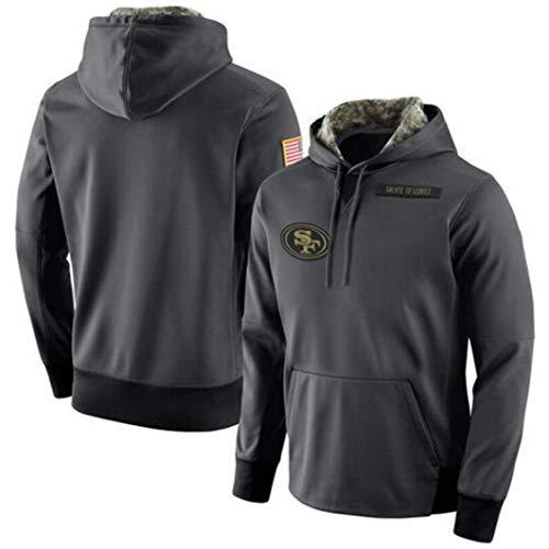 YZQ Hoodie NFL Football 49Ers Jersey Männer Und Frauen-Winter-Langärmliges Sweatshirts Rugby Jerseyhoodie Langarm-T-Shirt Pullover,L(170~175CM)