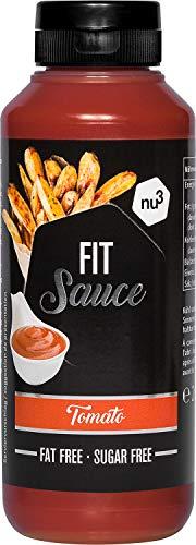 nu3 Smart Low Carb Tomaten Sauce - 265 ml pro Squeezer Dosierflasche - Zucker- und Fettfrei - kalorienarme gesunde Alternative zu Ketchup und Barbecue Saucen - Ideal las Tomatensoße oder Dip zu Pommes