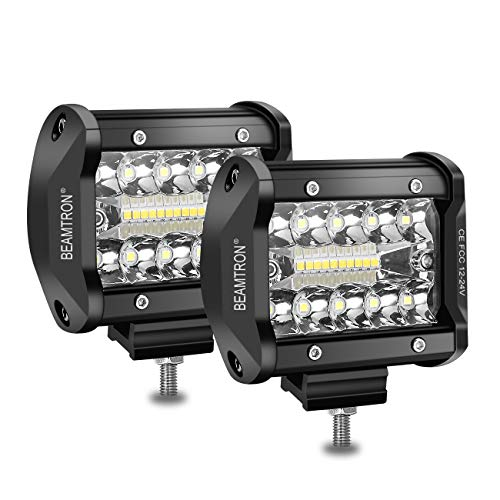 BEAMTRON Led Light Bar 4 Inch 120W 12,000Lm Led Light Pods Waterproof Driving