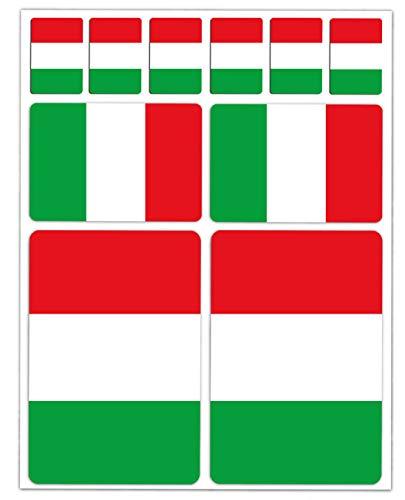 10 x vinyl sticker autosticker sticker vlag Italië auto motorfiets fiets scooter venster D 14