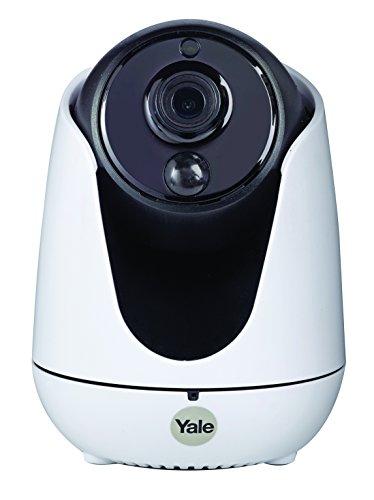 Yale WIPC-303W Cámara IP de Interior panorámica motorizada, Blanco y Negro